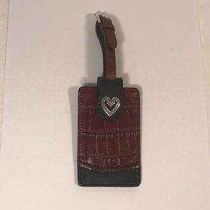 Brighton Leather Luggage Tag, New